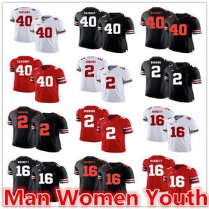 настройка NCAA штат Огайо Buckeyes футбольные майки Howard Cassady 40 J. K Dobbins 2 J. T. Barrett 16 Джерси любое имя номер размер S-5XL