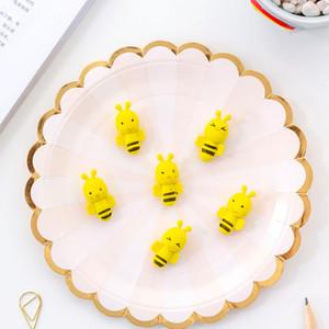 Gomas de borrar dibujos animados abeja linda escritura Animal Dibujo de goma del borrador de lápiz de escritorio para los regalos de los cabritos fuentes de escuela J200269