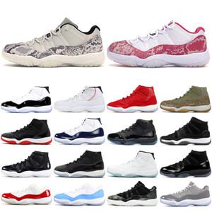 2019 Nike Air jordon retro 11 XI zapatos para hombre Piel de serpiente rosada Ligero Hueso Zapatillas de baloncesto azul marino Concord 45 High Low Platinum Tint Bred Sport Sneaker