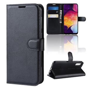 Samsung galaxy a50 a40 a30 için cep telefonu bookcover lüks galaxy a70 a10 a20 için deri flip case kapak dhl ücretsiz kargo