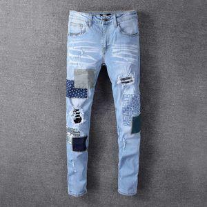 2020 Mens Designer Jeans Denim Pants New Style Casual Skinny Sweatpants Mens Designer Jeans Drop Crotch Jogging Pants Mens Jeans