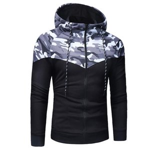High Street Laamei Men Causal Camouflage Print Sets Camo Jacket+Pants 2Pc Tracksuit Sportwear Hoodies Sweatshirt &Pant Suit Plus Size