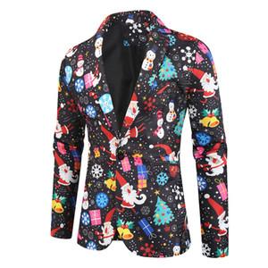 남성의 크리스마스 정장 자켓 매칭 인쇄 크리스마스 셔츠 최고 참신 눈사람 성인 크리스마스 화려한 드레스 # CL3