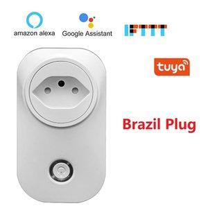 ccessoires Pièces électriques Socket Prises Adaptateurs Brésil Smart WiFi Socket BR Fiche prise sans fil voix Smart Control timing ...