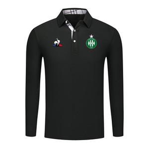2019 Ligue 1 as Saint-Etienne Polo Shirt maglie da calcio maglie da calcio uomo 2019 Saint-Etienne Polo da uomo