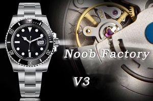 2019 New Super N Fábrica V3 2813 Marca do Movimento Black Watch Ceramic Bezel Sapphire vidro de 40mm 116610LN Mens Mergulho Piscina Relógios do relógio
