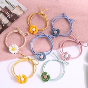 5Pcs Girl Kids Elastic Hair Band Small Daisy Rubber Hair Ropes Princess Headwear XXFE