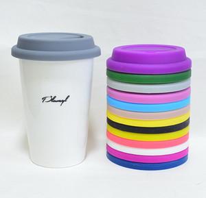 9cm Evrensel Bardak Kapağı Yuvarlak Bardak Kapağı Kahve Süt Mug Kapak Silikon Anti-toz Cam Kupa Kapak A03