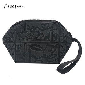 Le nuove borse cosmetiche Le donne geometriche Traggono la borsa per le borse luminose dell'organizzatore dei cosmetici Le borse femminili chiudono la borsa con chiusura lampo della borsa