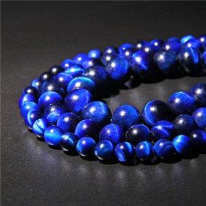 Art und Weise Schmucksache-Korn Grade A Naturstein Blau Lapislazuli Tigerauge Perlen-runder loser Edelstein für DIY Schmucksachen, die 6/8/10 / 12mm