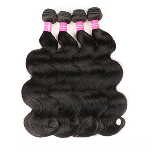 B Indian Virgin Body Wave Hair Natural Color 100 %Human Hair Bundles 8 &Quot ;-28 &Quot ;Indian Body Wave Remy Hair Extensions Free Shi