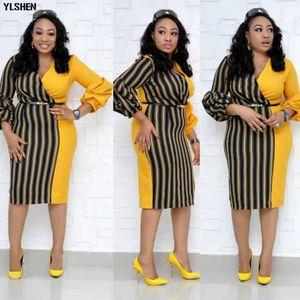 Dashiki afrikanische Kleider für Frauen 2019 Neue Bazin Riche Langarm Afrika Kleid Ankara Mode Elegante afrikanische Rock Kleidung