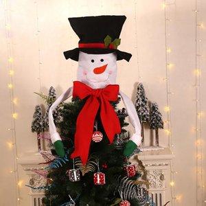 Новая рождественская елка Toppers украшения Санта-Клаус Hat Tree Top Украшение Red Christmas Home