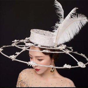 Özel Yapılmış Defile headpieces kırmızı halı Modelleri Gelinler düğün için Taçlar Saç Makyaj Başlığı Taç Tiaras Fascinator