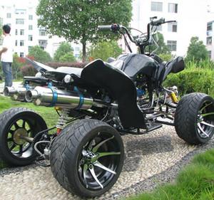 ATV dinosaurio grande de playa de cuatro ruedas todoterreno motocicleta todo terreno doble tubo de escape de aluminio ATV ATV Entertainment kart