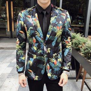 Men Blazer Velvet Digital Fabric Design Boutique Plus Size Suit Party Jacket DJ Club Hombre Stage Singer Clothes Boutique Men's Suit