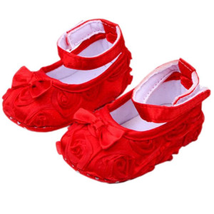 Baby Girl Comfortable AntiSlip Princess Toddler Shoes (12-18 month, Red)