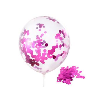 12inch Sequins Cheio Birthday Party Toy Latex Balloon Moda Multicolor Balão Limpar Balões Novidade Kid casamento Decoração DBC VT1706