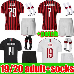 kit de adulto Camisa 2019 2020 AC Milan camiseta de fútbol IBRAHIMOVIC 19 20 piątek SUSO R.LEAO hombres Kits ROMAGNOLI Paquetá Fútbol