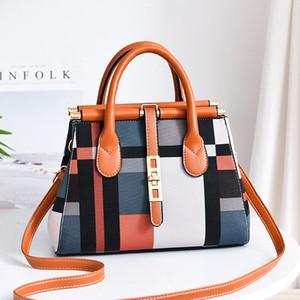 Bolsos 2019 nuevos europeos y americanos gran bolsa de gran capacidad Sra elegante tendencia de la moda bolso bandolera