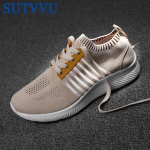 SUTVVU 2020 новый летний ленивый обувь для мужчин летающие тканые Повседневная обувь бежевый цвет дышащий студент пара мужчин Tenis Masculino