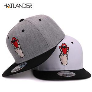 Hatlander الأزياء snapback قبعات البيسبول bboy gorras planas العظام snapback قبعة باردة النساء الرجال snapbacks عارضة المجهزة الهيب هوب كاب