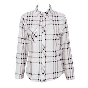 Yeni Gelenler Moda Sıcak kadın Bayan Gevşek Uzun Kollu Casual T-Shirt Kadın Ekose Şık Gömlek Tops
