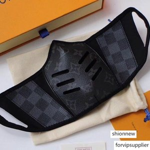 Есть с упаковки Box Cool моды Paris Показать Luxury Designer Face Anti-Dust Маски Ткань Кожа печати Daily Mask