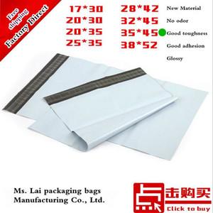Atacado 100% novo material 50 pçs / lote 35X45 CM Grande Branco Poli Plástico Saco de Correio Saco De Embalagem De Plástico Saco de Embalagem 350x450mm C18112801