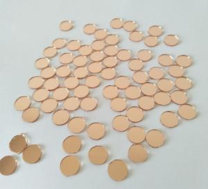 MEYA 1x1CM Light Rose Gold Mini Round Mirrors Mosaic Tiles ,1CM Glass Mirror Round ,200PCS LOT