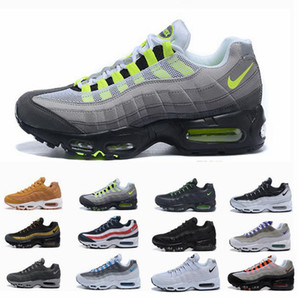 Nike air max 95 Vapormax Off white Flyknit Utility course hommes air occasionnels or noir rouge entraîneur chaussures I01 blanc sport Hommes Maxes Chaussures Sneakers Taille 7-12