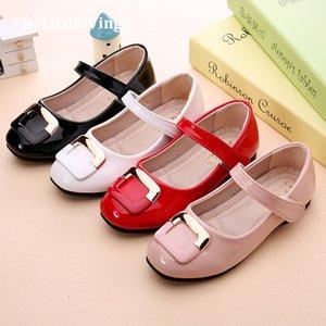 Мода осень новой девушки ботинки партии chaussure плоские принцесса Лян Pi дети свадебные туфли школьные мягкие кожаные мокасины пу S200108