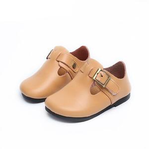 Autunno bambini scarpe in vera pelle classico vintage ragazzi ragazze uniforme Oxford fibbia bambini sneaker enfant
