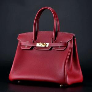 جلدية البلاتين حزمة جلدية كبيرة الحجم قفل حقيبة يد حقيبة اليدوية