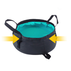 Viagem portátil Folding lavatório exterior dobrável balde bacia de lavagem Durable Bag Água Pot Para Caminhadas Camping Bath Supplies DBC VF1250