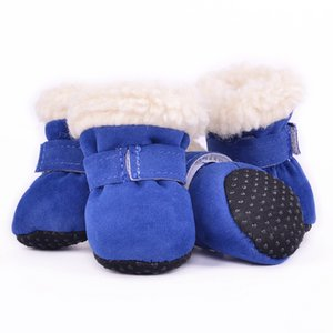 2019 Lovely Pet Snow Dog Boots Casual Dog Shoes Pet Slip-resistant Waterproof Shoes For Dog 4 Pcs Sets For Puppy