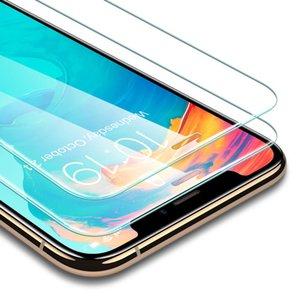 Vidro moderado para o 2019 novo iPhone 11 PRO Tela MAX X XS XR Protector para LG Stylo 5 V40 Samsung A20E A50 Protector Film Sem Box