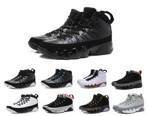 Bakır siyah 9 Yeni Antrasit Heykeli Baron Kömür Johnny Kilroy mavi Erkek Basketbol Ayakkabı Ucuz 9s IX Sneakers 7-13