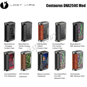 Perdu Vape Centaure DNA250C Mod Powered By Double 18650 Batterie 200W Box Mod TFT ADN 250C Chipset Lostvape Centaure DNA250C authentique