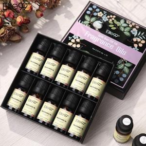 Elite99 10 ml d'huiles de parfum 10 ml 10 pièces / lot Essential Huile Cadeau de cadeau Humidificateur Aromathérapie Jasmine Jasmin Citron Lime Parme Huile violette