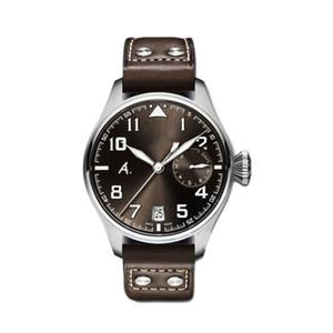 progettista di lusso orologio IW serie pilota IW500422 ampio display potere quadrante 46MM vestito cinturino in pelle movimento zaffiro automatico da polso