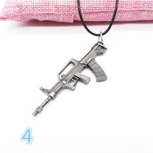 6см Горячие съемки игры Gun ожерелье Punk Simulation Пистолеты Sniper Rifle Revolver пистолеты ожерелье мужчин