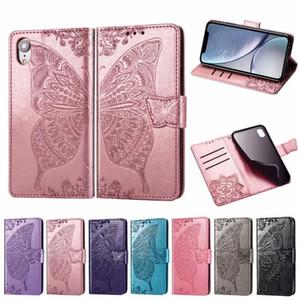 Mandala Papillon Gaufrage En Cuir Flip Portefeuille Cas Étui Souple pour Huawei P30 Pro LITE Y7 Y6 2019 Samsung A40 A50 A70 M20