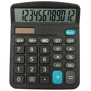 Calculatrice lumière solaire alimenté par batterie Calculatrice 12 travailleurs Digits Home Office Calculator Portable Fournitures de bureau scolaires c667