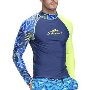 Diving Suit Men \ 's protetor solar Swimsuit Dividir Shorts Siamese de mangas compridas Surf Mergulho Suit