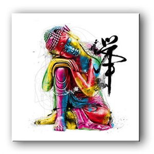 Famiglia Buddha Tela Pittura Decorazione Disegno Nucleo Studio senza cornice Soggiorno Appeso Immagine Wall Art Decor Alta qualità 15 5lyH1