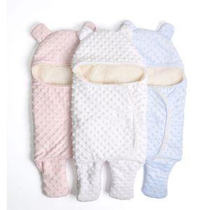 Polar Bebek Battaniye Yenidoğan Bebek Kundaklama Wrap Soft Kış Yatak Çanta 0-18M yenidoğanların Sleeping Battaniye Manta Bebes Alma