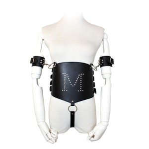 Women Bdsm Bondage Restraints Leather Harness With Handcuffs Erotic Sex Lingerie Sexual Intimate Goods Erotic Flirt Costume