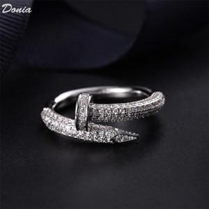 mode anneau chaud bijoux Donia Bague clou zircons européen et américain anneau hommes et des femmes créatrices handwork