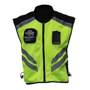 Moto Sport riflettente gilet ad alta visibilità fluorescente sicurezza di guida della maglia da corsa senza maniche Giacca Moto Gear (XXXL)